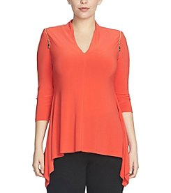 Chaus Zipper Shoulder Top