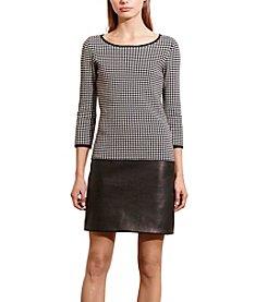 Lauren Ralph Lauren® Houndstooth Drop-Waist Dress