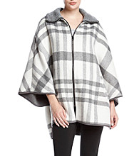 Via Spiga® Front Zip Cape Coat