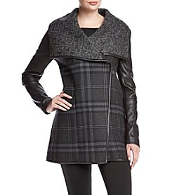 Vera Wang® Olivia Double Face Plaid Coat
