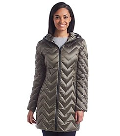MICHAEL Michael Kors® Petites' Chevron Quilted Packable Down Jacket