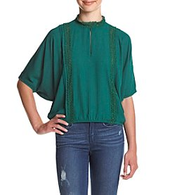 XOXO® Cold Shoulder Dolman Sleeve Top