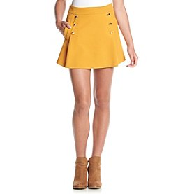 XOXO® Button Front Sweater Skirt With Pockets