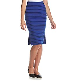 Sequin Hearts® Stripe Midi Skirt With Side Slits