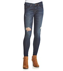 BLANKNYC® Dark Wash Disstressed Destructed Skinny Jeans