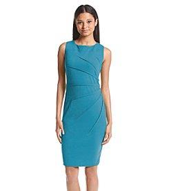 Calvin Klein Sleeveless Starburst Scuba Crepe Sheath Dress