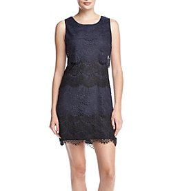 Jessica Simpson Lace Tiered Sheath Dress
