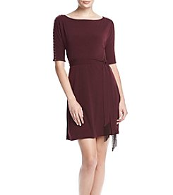 Jessica Simpson Tie Waist Fit And Flare Dress