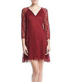Jessica Simpson Keyhole Lace Shift Dress