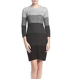 Calvin Klein Stripe Sweater Dress