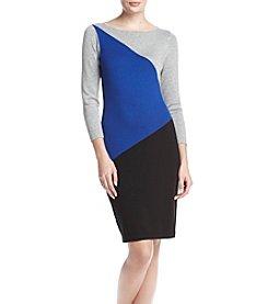 Calvin Klein Color Block Sweater Dress