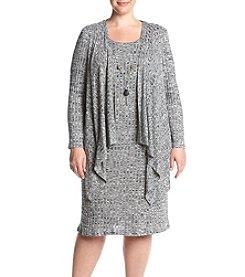 R&M Richards® Plus Size Cascade Jacket Dress