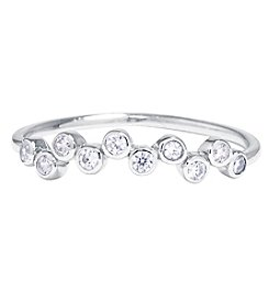 Athra Sterling Silver Cubic Zirconia Bubble Ring