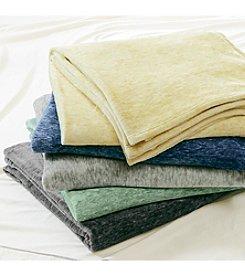 Intelligent Design Melange Plush Brushed Blanket