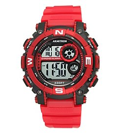Armitron Sport Men's Digital Chronograph Matte Red Resin Strap Watch