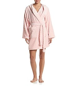 PJ Couture® Fleece Hooded Robe