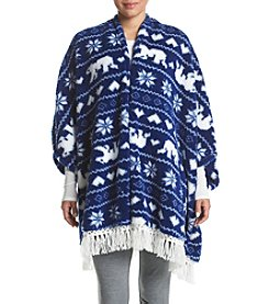 PJ Couture® Fleece Poncho Robe