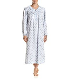 Miss Elaine® Printed Honeycomb Knit Nightgown