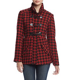 Rampage® Houndstooth Toggle Coat