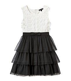 Sequin Hearts® Girls' 7-16 Daisy Tiered Ruffle Dress