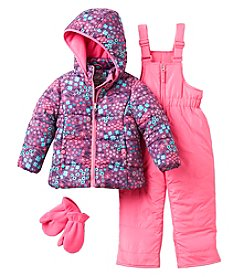 Hawke & Co. Girls' 2T-4T Ditsy Floral Snow Suit with Mittens