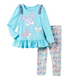Nannette® Girls' 2T-6X 2-Piece Butterfly Tunic and Leggings Set