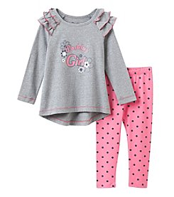 Nannette® Girls' 2T-6X 2-Piece Daddy's Girl Tunic and Leggings Set