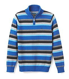 Calvin Klein Jeans® Boys' 8-20 1/4 Zip All Over Striped Sweater
