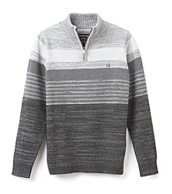 Calvin Klein Jeans® Boys' 8-20 1/4 Zip Colorblock Striped Sweater