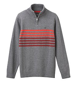 Calvin Klein Jeans® Boys' 8-20 1/4 Zip Chest Striped Sweater