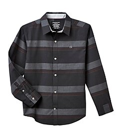 Calvin Klein Jeans® Boys' 8-20 Long Sleeve Horizontal Striped Shirt