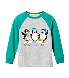 Mix & Match Boys' 4-7 Long Sleeve Snow Much Fun Raglan Tee