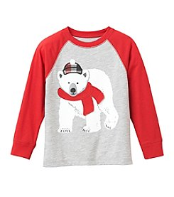 Mix & Match Boys' 2T-7 Long Sleeve Polar Bear Raglan Tee