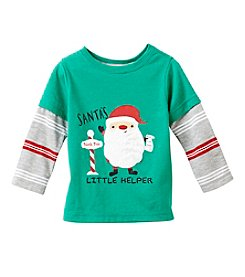 Mix & Match Baby Boys' Long Sleeve Santa's Little Helper Tee