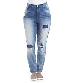 Hippie Laundry Plus Size Destructed Super Soft Skinny Jeans