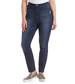 Hippie Laundry Plus Size Dark Wash Five Pocket Super Soft Skinny Jeans