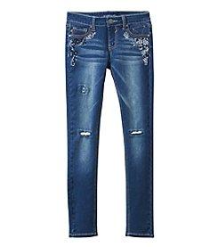 Vigoss® Girls' 7-16 Embellished Skinny Jeans
