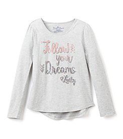 Lucky Brand® Girls' 7-16 Long Sleeve Follow Your Dreams Tee