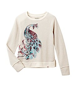 Lucky Brand® Girls' 7-16 Long Sleeve Peacock Sweater