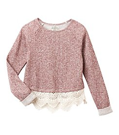 Lucky Brand® Girls' 7-16 Long Sleeve Popover Lace Top
