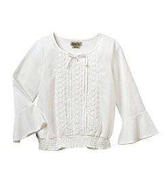 Lucky Brand® Girls' 7-16 Long Sleeve Lace Peasant Top
