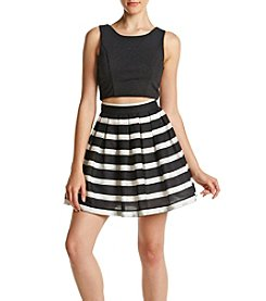 Trixxi® Striped Skirt Two-Piece Dress