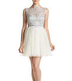 Trixxi® Lace Top Boatneck Dress