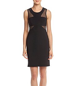 Morgan & Co.® Short Dress With Mesh Inserts