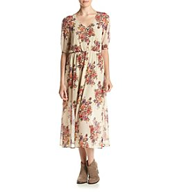 Eyeshadow® Midi Floral Dress