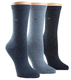 Calvin Klein 3-Pack Sparkle Crew Sock