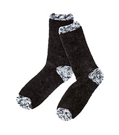 Relativity® Chenille Solid/Marled Slipper Sock