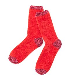 Relativity® Chenille Solid/Marled Slipper Socks