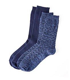 Relativity® Chevron Texture Crew Sock
