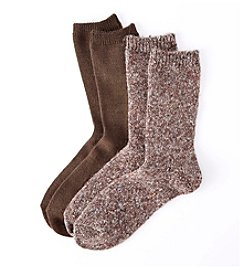 Relativity® Sweater Knit Crew Socks